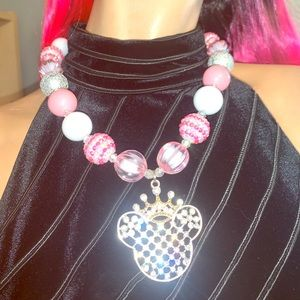 Jewelry - Disney Mickey With Crown Chunky Necklace